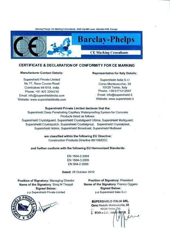 Certificazione CE Italia