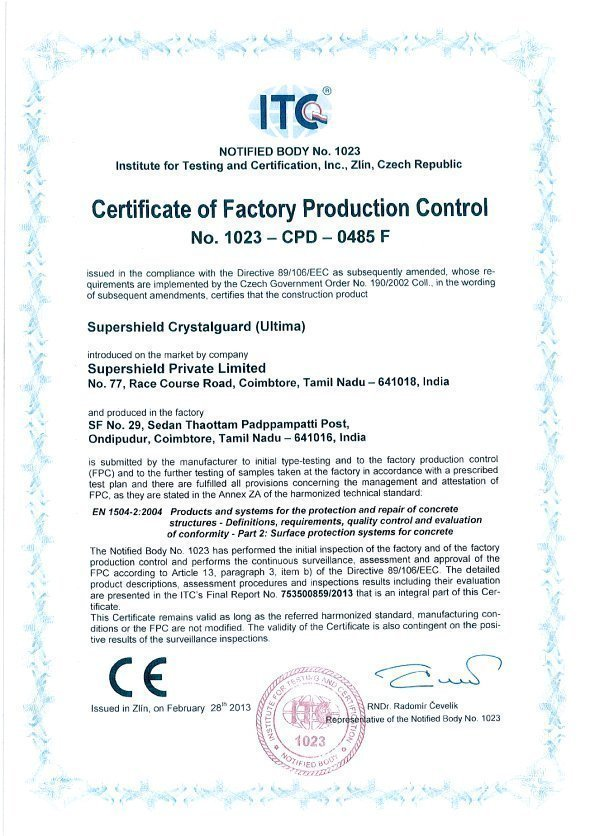 FPC CRYSTALGUARD (ULTIMA) certification