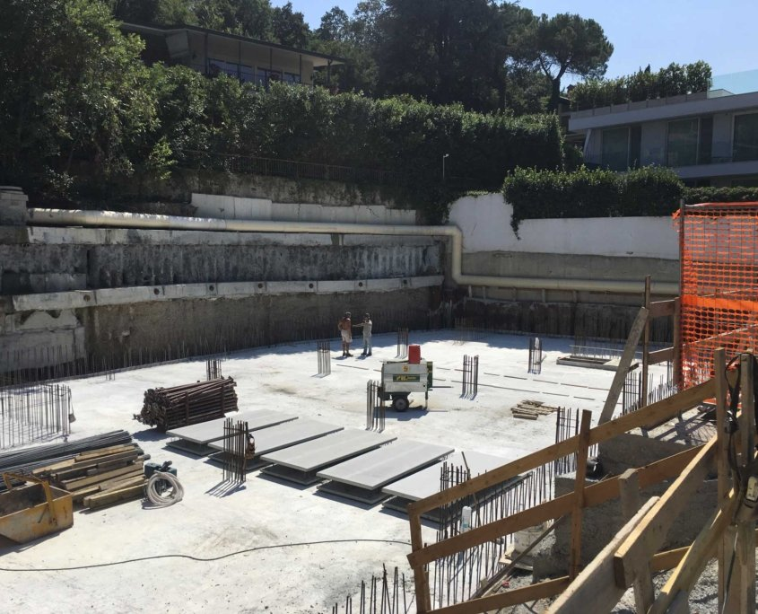 4 - Vista Cantiere - Ampliamento Hotel San Felice del Benaco - Brescia - F Service Scarl