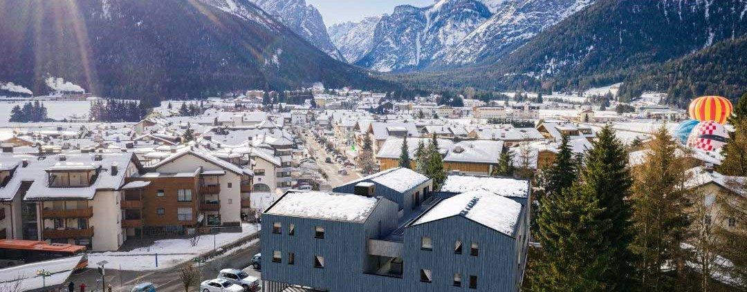 1 - Rendering - Supermercato - Residence - Dobbiaco - Bolzano - MaK Costruzioni