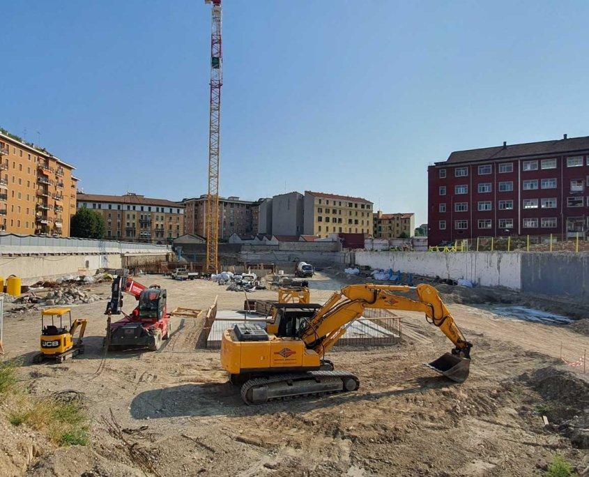 3 - Cantiere -Commerciale - Residenziale Via Tacito Milano - Milano City Village - Percassi