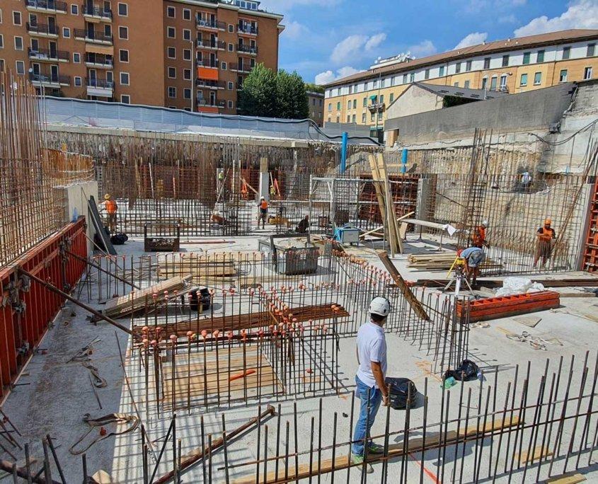 7 - Cantiere -Commerciale - Residenziale Via Tacito Milano - Milano City Village - Percassi